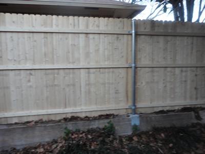 Stem wall fence my a m fence for Stem wall construction