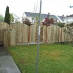 Solid-rib-arch-Picket-Panel Stem Wall Fence
