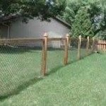Wood Post Chain Link