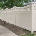 White Vinyl Fence With Picket Top