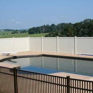 White Vinyl Pool Fence