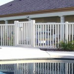 White Picket Vinyl Pool Fence