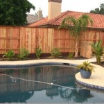 Wooden Pool Fence
