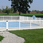 White Vinyl Pool Fence